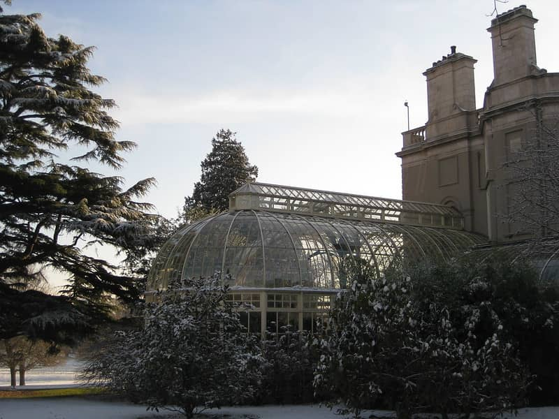 Farmleigh House and Estate Dublin with the conservatory in the frost