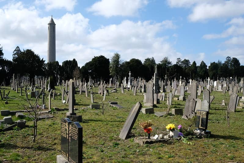 Glasnevin Cemetery and Museum With Graves and The tower