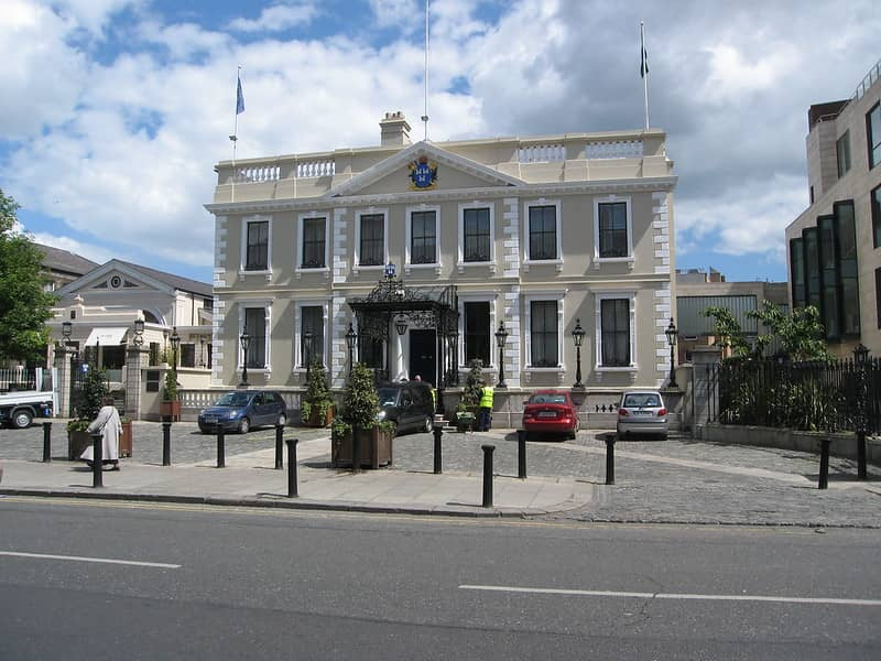 The Mansion House Dublin in The Sunshine